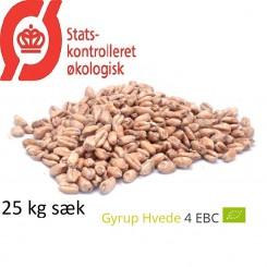Gyrup Hvede Malt økologisk, Gyrup Gårdmalt, ebc 4, 25 kg sæk