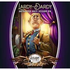 Lardy Dardy, Dryhopped Hazy Session IPA, Amager Bryghus, 44 cl