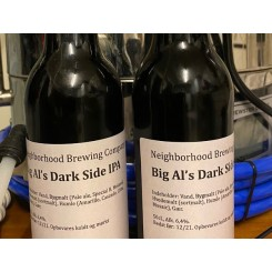 Big Al's Dark Side IPA . 50 cl, Neigborhood Brewing Co. 6,4% abv