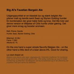 Big Al's Faustian Bargain Ale 50 cl, 8,1 % Neighborhood Brewing Co. 6,4% abv