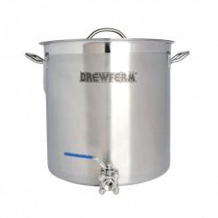 Brewferm 35 liter rustfri stålgryde med taphane