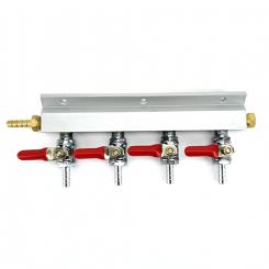 Co2 gas line manifold 4 vejs