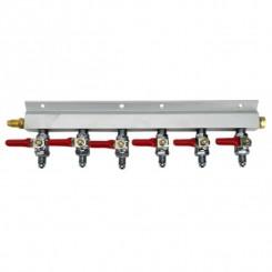 Co2 gas line manifold 6 vejs