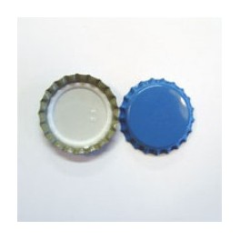 """Kapsel """"Lyse-blå"""" 26 mm pris for 500 stk."""