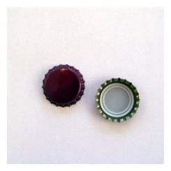 "Kapsel ""Bordeaux-rød"" 26 mm pris for 500 stk."