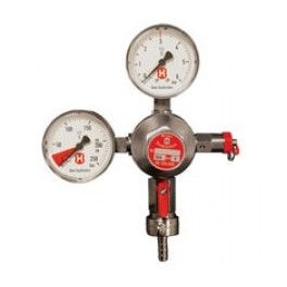Co2 trykregulator med 2 manometre