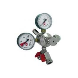 Co2 trykregulator med 2 manometre og 2 udgange til 2 fade