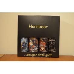 Hornbeer gaveæske med 4 slags mørke gourmet øl