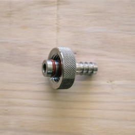 """Hose barb 3/8"""" med 1/2"""" FPT Knurl for Re-Circ SS Brewtech"""