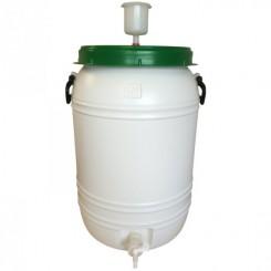 Gæringstank 60 ltr. komplet med taphane og gærlås