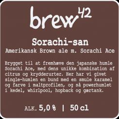 Sorachi-san 50 cl, Brew42, 5,0% alc