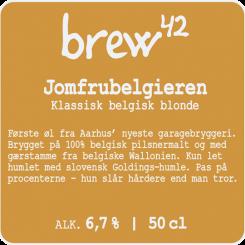 Jomfrubelgieren 50 cl, Brew42, 6,7% alc