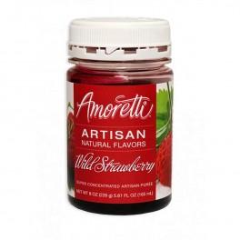 Amoretti - Artisan Natural Flavors - Wild Strawberry 226 g Jordbær sirup