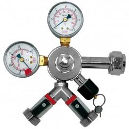 Co2 trykregulator Oxy Turbo 2 manometre og 2 udgange