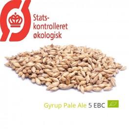 Gyrup Pale Ale Malt økologisk, Gyrup Gårdmalt, ebc 4 - 5, pris pr. 100 g.