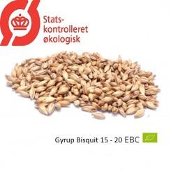 Gyrup Biscuit Malt økologisk, ebc 30 - 40 EBC, pris pr. 100 g.