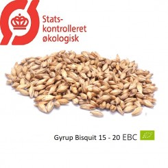 Gyrup Bisquit Malt økologisk, ebc 15 - 20 EBC, pris pr. 100 g.