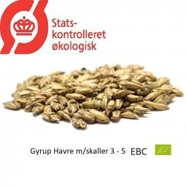 Gyrup Havre Malt med skaller økologisk, ebc 3 - 5 EBC, pris pr. 100 g.