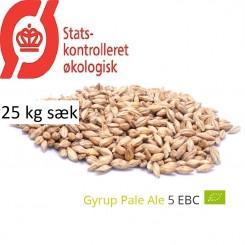 Gyrup Pale Ale Malt økologisk, ebc 4 - 5, pris pr. 25 kg
