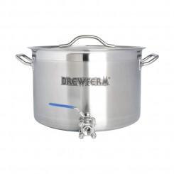 Brewferm 20 liter rustfri stålgryde med taphane