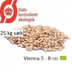 Gyrup Vienna Malt økologisk, ebc 5 - 8, pris pr. 25 kg sække